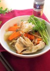 八角香る 鶏肉と根菜のめんつゆとろみ煮