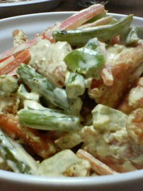 魚と野菜のヘルシーソース和え