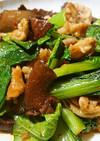 豚肉と小松菜の豆板醤炒め