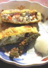 筍、きのこ、豆腐の巾着焼き グランシェフ