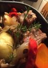 魚焼きグリルで焼くスペアリブ