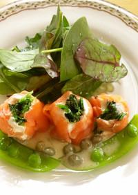 サーモンロールの前菜