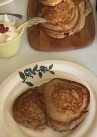 大麦粉(もち麦粉)のパンケーキ