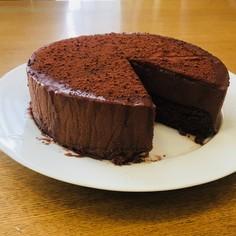 ラム酒香る 大人のチョコムースケーキ