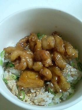 格安☆鶏皮のたれ焼き丼