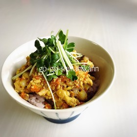 ヘルシー♡カレー味の豆腐丼