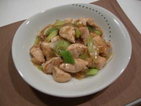 鶏ささみとねぎのシンプル中華炒め