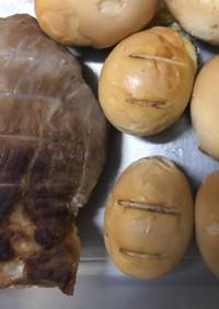 燻製(ゆで卵と豚肉)