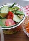 新鮮野菜のジャーサラダ