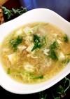 カニ缶でほっこり温かとろみスープ