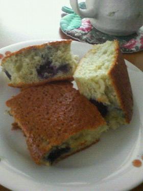 グレープジュース☆ブルーベリーのケーキ