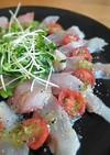 鯛のカルパッチョ(柚子胡椒ソース)