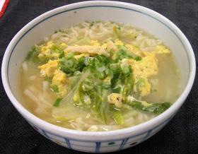 南関あげと白菜の卵とじ☆ うどん☆