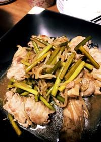 肉巻き豆腐のスタミナ炒め