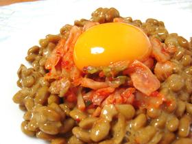 うまっ * 納豆にキムチと卵