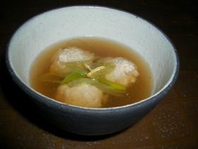 ふわふわ豆腐団子の汁