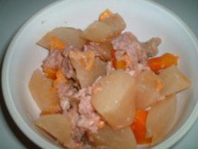 炊飯器で☆豚こまと大根ピリ辛煮