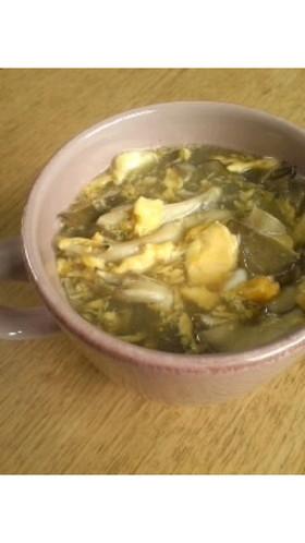 レンジで*かきたま風舞茸スープ