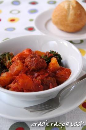 ミートボールと野菜のトマト煮込み