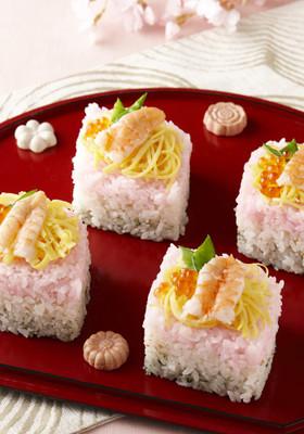 食卓に春がやってきましたよ♪ひし餅寿司