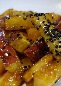 ごぼうとさつま芋の甘辛炒め