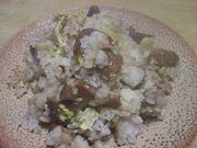 里芋の煮っころがしの残りで♪炒飯の写真