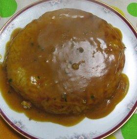 あんかけお好み焼き~カレー風味~