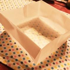 簡単★焼型の折り方★クッキングシートで