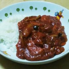 トマト缶とフライパンで簡単ハヤシライス