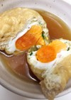 水菜と卵の巾着
