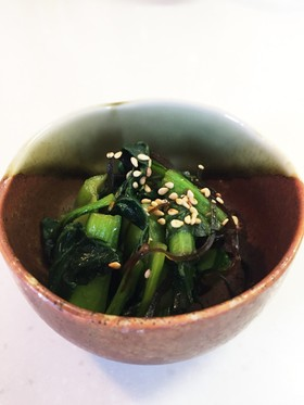 簡単☆小松菜の塩昆布炒め