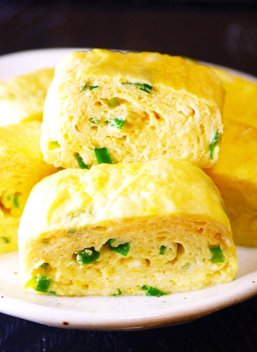 朝食やお弁当に。白だし青ねぎ☆卵焼き