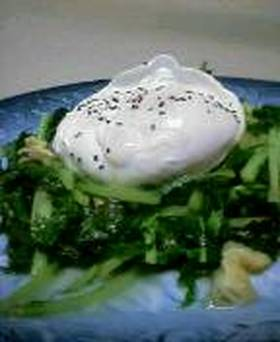 水菜と油あげの蒸し浸し
