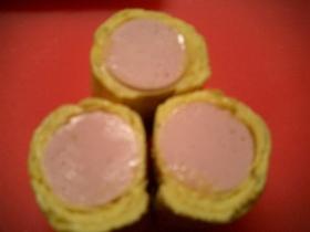 お弁当に☆魚肉ソーセージ卵巻き