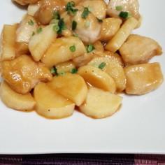 めんつゆで簡単☆鶏胸肉と長芋の炒め煮