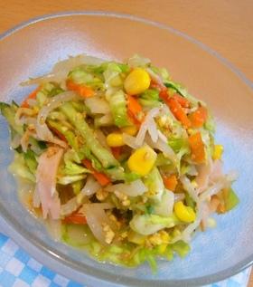 8品目!野菜をモリモリ食べるごま酢ラダ♪