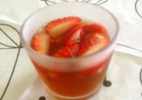 苺と林檎のコラボ★赤い宝石ゼリー