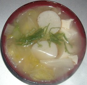 白菜&山芋&豆腐のみそ汁