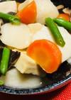 白だしで簡単♪里芋と高野豆腐の煮物♡