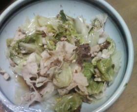 日テレ昨日見てアレンジw豚と白菜の蒸し煮