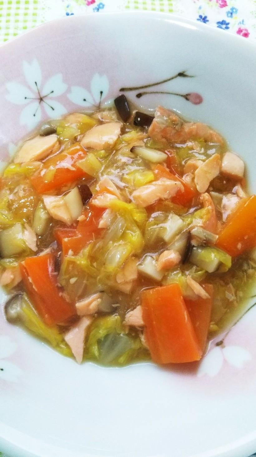 離乳食完了期☆鮭と白菜のちゃんちゃん煮