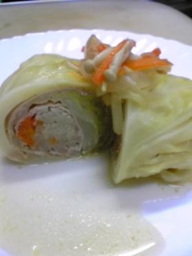 野菜たっぷりヘルシーロールキャベツ