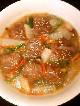 肉団子と野菜の中華あんかけ