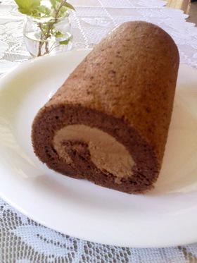 とろける〜♪シフォンのチョコロールケーキ