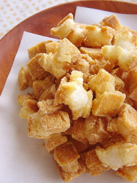 切り餅で作るおかき。