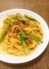 和風✤ひき肉とアスパラの味噌風味パスタ