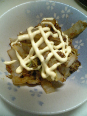 ★マヨとソースでお好み白菜★