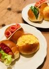 簡単朝食♡3種のロールパンサンド