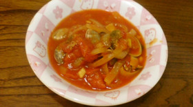 アサリとトマトのイタリアン煮