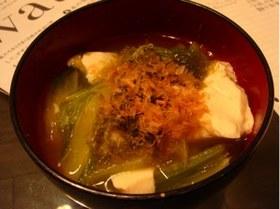 あったまる◎湯豆腐with白菜